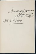 Autographs:U.S. Presidents, William H. Taft Inscribed Copy of The Presidency....