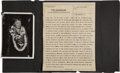 Miscellaneous:Ephemera, [Amelia Earhart]. Two Telegram Reports Regarding the Search forAmelia Earhart's Plane with Related Photographs.... (Total: 2Items)