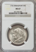 Commemorative Silver, 1936 50C Bridgeport MS67 NGC. NGC Census: (34/1). PCGS Population: (105/0). CDN: $850 Whsle. Bid for problem-free NGC/PCGS ...