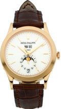 Timepieces:Wristwatch, Patek Philippe Ref. 5396R-011 Very Fine Rose Gold Center SecondsWristwatch With Annual Calendar, Moon Phases & 24 HourDispla...