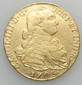 Colombia, Colombia: Charles IV gold 8 Escudos 1795 NR-JJ VF/XF Cleaned,...