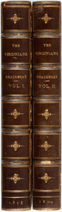 Books:Literature Pre-1900, William Makepeace Thackeray. The Virginians. A Tale of the LastCentury. London: Bradbury & Evans, 1858-59. Two ... (Total:2 Items)