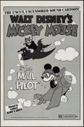 """Movie Posters:Animation, Mickey Mouse in The Mail Pilot (Buena Vista, R-1974). One Sheet(27"""" X 41""""). Animation.. ..."""