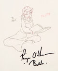Animation Art:Production Drawing, Beauty and the Beast Belle Animation Drawing (Walt Disney,1991)....