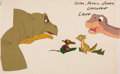 Animation Art:Production Cel, The Land Before Time Spike, Petrie, Ducky, and LittlefootProduction Cel Setup (Sullivan Bluth/Amblin, 1988)....