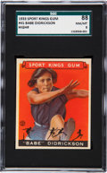 Baseball Cards:Singles (1930-1939), 1933 Goudey Sport Kings Babe Didrickson #45 SGC 88 NM/MT 8. ...