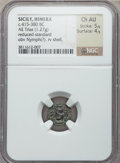 Ancients:Greek, Ancients: SICILY. Himera. Ca. 405-383/2 BC. Æ trias (12mm, 1.27gm)....