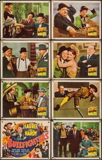 "The Bullfighters (20th Century Fox, 1945). Lobby Card Set of 8 (11"" X 14""). Comedy. ... (Total: 8 Items)"
