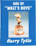Animation Art:Limited Edition Cel, One of Walt's Boys Harry Tytle Limited Edition Book #483/750(ASAP, 1997)....
