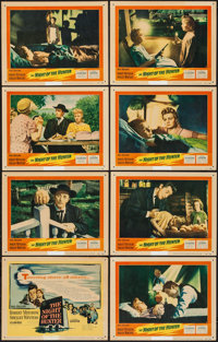 """The Night of the Hunter (United Artists, 1955). Lobby Card Set of 8 (11"""" X 14""""). Film Noir. ... (Total: 8 Item..."""