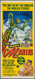 "Movie Posters:Science Fiction, The Deadly Mantis (Universal International, 1957). Australian Daybill (13.25"" X 30""). Science Fiction.. ..."