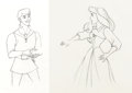 Animation Art:Production Drawing, Sleeping Beauty Briar Rose and Prince Phillip Animation Drawing Group (Walt Disney, 1959).... (Total: 2 Original Art)