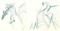Animation Art:Production Drawing, Sleeping Beauty Maleficent as a Dragon Animation DrawingGroup (Walt Disney, 1959)....