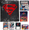 Memorabilia:Trading Cards, Batman and Superman Related Trading Cards Group (VariousPublishers, 1990s).... (Total: 6 Items)
