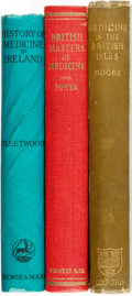 Books:Medicine, [Medicine]. Three Books on British Medical History. VariousPublishers and dates. ... (Total: 3 Items)