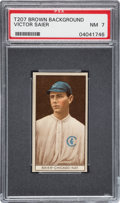 Baseball Cards:Singles (Pre-1930), 1912 T207 Cycle Victor Saier PSA NM 7 - Highest Graded Example! ...