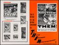"""Movie Posters:Science Fiction, Them! (Warner Brothers, 1954). Uncut Pressbook (20 Pages, 11"""" X17""""). Science Fiction.. ..."""