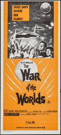 """Movie Posters:Science Fiction, The War of the Worlds (Cinema International, R-1970s). AustralianDaybill (13.25"""" X 29.75""""). Science Fiction.. ..."""