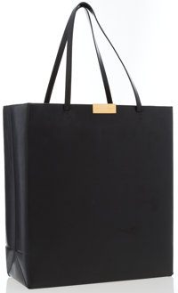 """Stella McCartney Black Vegan Leather Tote Bag Good Condition Dimensions: 12.5"""" Width x 14"""" Heigh"""