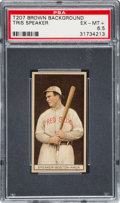 Baseball Cards:Singles (Pre-1930), 1912 T207 Recruit Tris Speaker PSA EX-MT+ 6.5 - Pop One, TwoHigher. ...