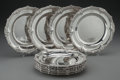 Silver Holloware, British:Holloware, A SET OF TWELVE GARRARDS SILVER PLATES, London, England, circa1846-1847. Marks: (lion passant), (leopard's head), L, (d...(Total: 12 )