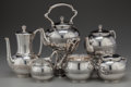 Silver Holloware, American:Tea Sets, A SEVEN PIECE TIFFANY & CO. SILVER TEA AND COFFEE SERVICE, NewYork, New York, circa 1873-1879. Marks: TIFFANY & CO.,1516... (Total: 7 )