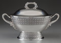 Silver Holloware, American:Platters, A TIFFANY & CO. SILVER COVERED SOUP TUREEN, New York, New York,circa 1879-1891. Marks: TIFFANY & CO., 5817, MAKERS,1513,... (Total: 2 )