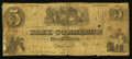 Obsoletes By State:Tennessee, Nashville, TN- Bank of Commerce Spurious $5 Nov. 15, 1855. ...