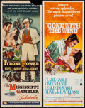"Movie Posters:Academy Award Winners, Gone with the Wind & Others Lot (MGM, R-1968). Inserts (7) (14""X 36""). Academy Award Winners.. ... (Total: 7 Items)"