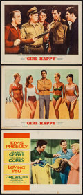 """Movie Posters:Elvis Presley, Loving You & Other Lot (Paramount, 1957). Lobby Cards (3) (11""""X 14""""). Elvis Presley.. ... (Total: 3 Items)"""