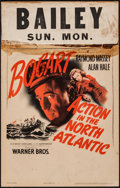 "Movie Posters:War, Action in the North Atlantic (Warner Brothers, 1943). Window Card(14"" X 22""). War.. ..."