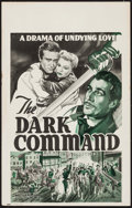 "Movie Posters:Western, The Dark Command (Republic, 1940). Window Card (14"" X 22"").Western.. ..."