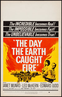 """The Day the Earth Caught Fire (Universal, 1962). Window Card (14"""" X 22""""). Science Fiction"""
