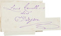 Autographs:Authors, Lewis Carroll Signature...