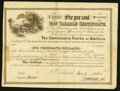 Confederate Notes:Group Lots, Ball 366 Cr. 154 $1000 1864 Six Per Cent Non Taxable CertificateVery Fine.. ...