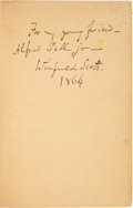Autographs:Military Figures, Lieutenant General Winfield Scott Book - Autobiography of Lieut. Gen. Scott - Signed... (Total: 2 Items)