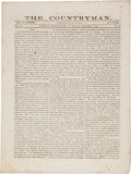 Miscellaneous:Newspaper, Confederate Newspaper: The Countryman....
