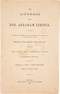 Autographs:U.S. Presidents, [Abraham Lincoln]. 1907 Reprint of Lincoln' Famous Cooper UnionSpeech on February 27, 1860....