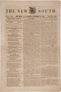 Miscellaneous:Newspaper, [Union Occupation]. Newspaper: The New South....