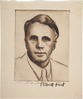 Autographs:Authors, [Robert Frost] Portrait Print of Robert Frost Signed by RichardHarris,...