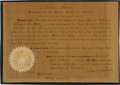 Autographs:U.S. Presidents, Andrew Johnson Document Signed as president....