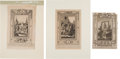 Autographs:Military Figures, [Revolutionary War]. Three Engravings... (Total: 3 Items)