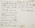 Autographs:Celebrities, William Thomson, Lord Kelvin, Autograph Letter Signed...