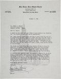 Autographs:Celebrities, Civil Rights Leader Ralph David Abernathy Typed Letter Signed....
