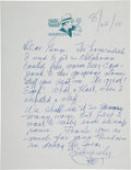 Autographs:Artists, Dick Tracy Creator Chester Gould Autograph Letter Signed...