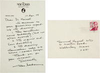 Charles Addams Autograph Letter Signed