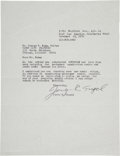 Autographs:Artists, Superman Co-Creator Jerry Siegel Typed Letter Signed....