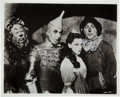 Autographs:Celebrities, Photograph From The Wizard of Oz Signed by Actors Jack Haleyand Ray Bolger....