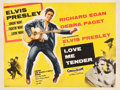 "Movie Posters:Elvis Presley, Love Me Tender (20th Century Fox, 1956). British Quad (30"" X 40"")....."