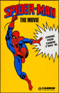 "Movie Posters:Action, Spider-Man (Cannon, 1985). One Sheet (29.5"" X 46.5""). Action.. ..."